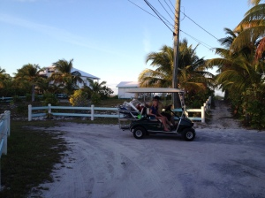 Our transportation on the island. My Mum, normally a reluctant driver, has been tearing around everywhere!