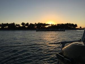Sunset behind Peanut Island